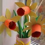 教师节手工 漂亮的水仙花