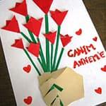 教师节制作漂亮简单的郁金香花束卡