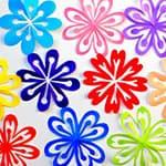 教你制作七彩剪纸花