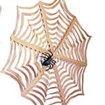 万圣节装饰蜘蛛网剪纸手工