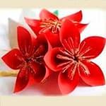 新年装饰花朵手工折纸
