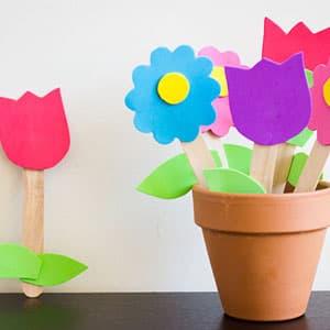 母亲节制作缤纷可爱的小花