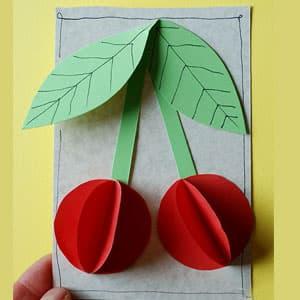 立体纸艺手工——樱桃