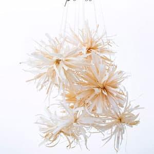 玉米叶手工制作花朵挂饰