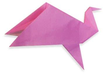 幼儿折纸制作——会动的小孔雀_鸟折纸_巧巧手幼儿