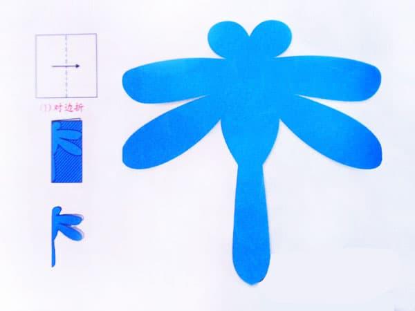 蓝色蜻蜓矢量图