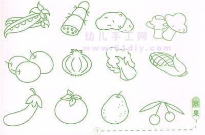 水果蔬菜简笔画