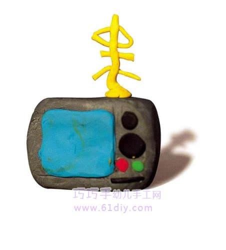 橡皮泥作品——电视机