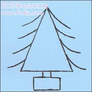 圣诞树的画法_树木简笔画_巧巧手幼儿手工网