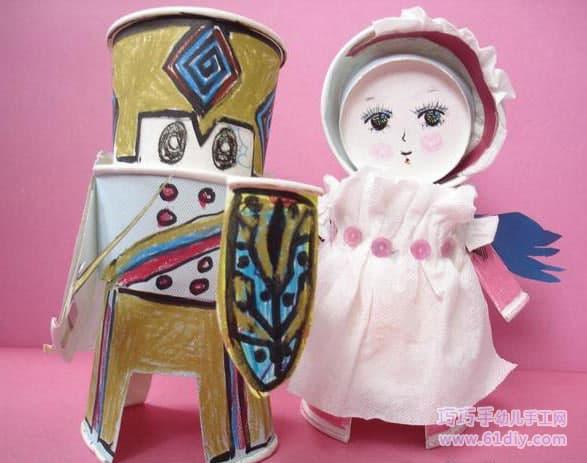 纸杯手工娃娃——新娘