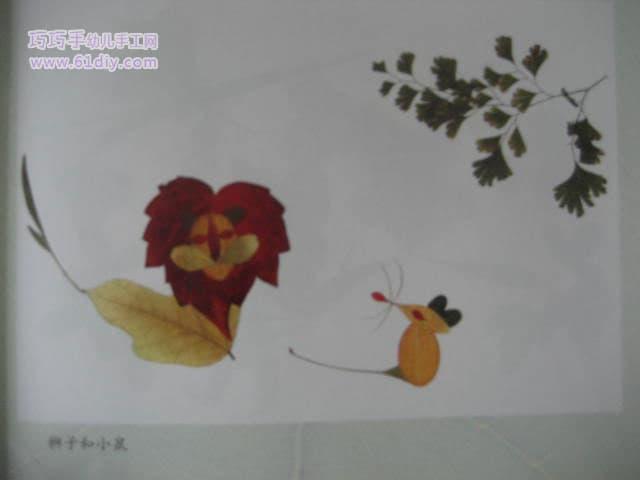 银杏树叶贴画作品_银杏树叶贴画_银杏叶树叶贴画图片