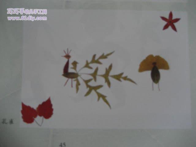 精美的树叶贴画作品欣赏 32