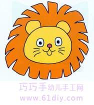 狮子 头像简笔画 快乐涂鸦 61diy巧巧手幼儿手