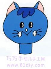 小猫头像的简笔画 快乐涂鸦 61diy巧巧手幼儿