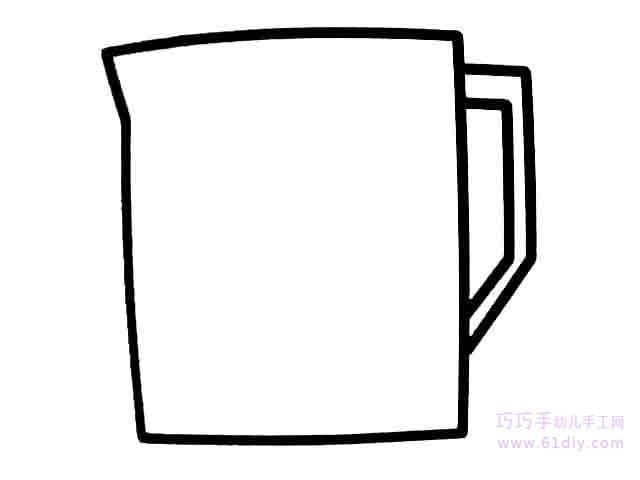 杯子的简笔画