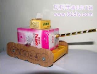 纸盒制作小汽车图解图片 手工纸盒做小汽车图解,用纸盒做小高清图片