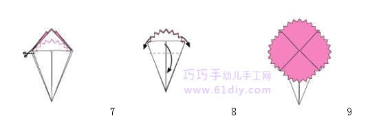 母亲节手工——康乃馨折纸(花的折法)