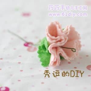 手工制作不织布康乃馨