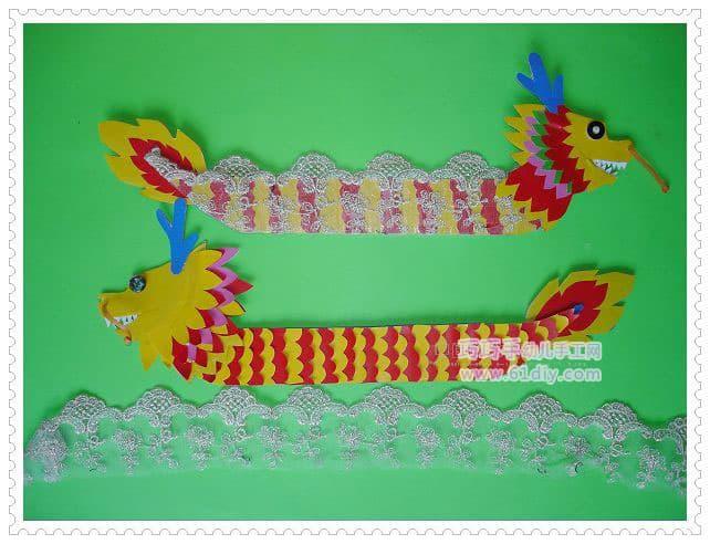 幼儿园端午节手工:龙舟(图解)