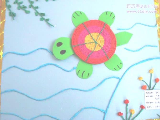 儿童手工麦杆贴画
