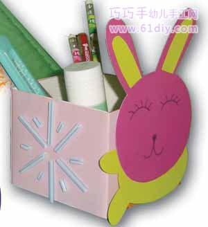 纸箱手工制作大全兔子
