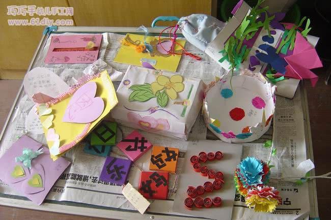 幼儿园小朋友们母亲节的手工作品