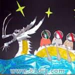 龙年手工制作(幼儿园手工) - bbfish - 宝宝乐园 幼儿手工 育儿