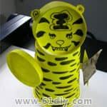 老虎折纸、老虎的画法、老虎剪纸、老虎手工 - bbfish - 宝宝乐园 幼儿手工 育儿
