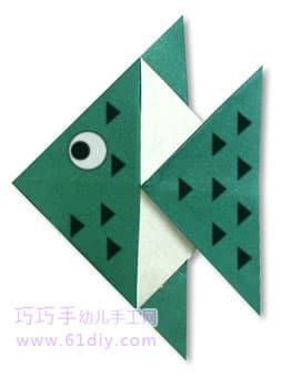 神仙鱼; 神仙鱼折纸;; 神仙鱼折纸,都是三角形结构的,特别简单