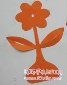 简单的剪纸花