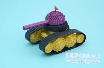 瓦楞纸手工——坦克