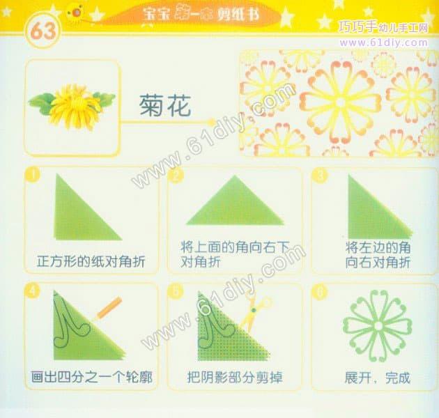 菊花剪纸教程