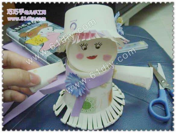转帖:纸杯娃娃手工制作图解