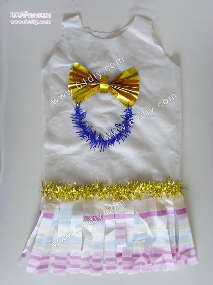 塑料袋做裙子 幼儿园演出服