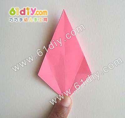 百合花折纸图解