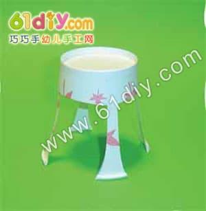 纸杯小椅子手工制作图解