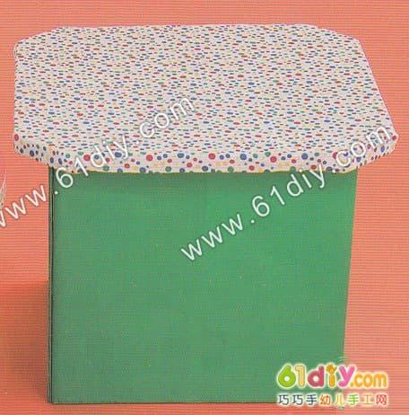 硬纸板制作小凳子_环保手工