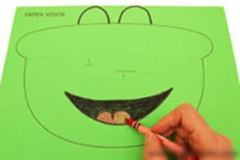 四款卡通太阳帽手工制作图解