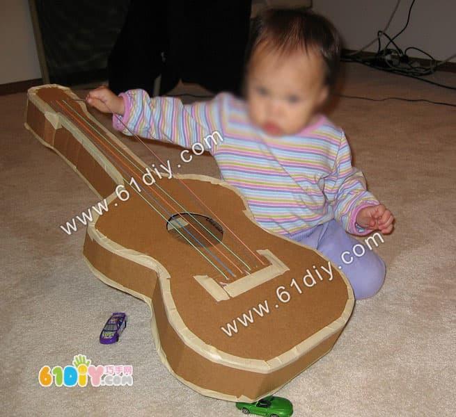 用纸盒做吉他图解