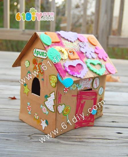 纸盒小房子_纸盒手工_巧巧手幼儿手工网