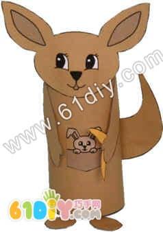 幼儿手工环保服装制作袋鼠