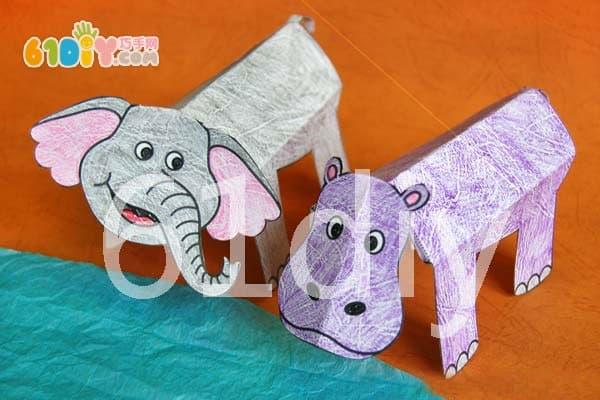 简单的立体大象折纸