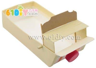 牛奶盒手工制作马车_纸盒手工