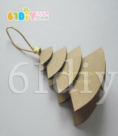 简单的圆纸片折纸圣诞树