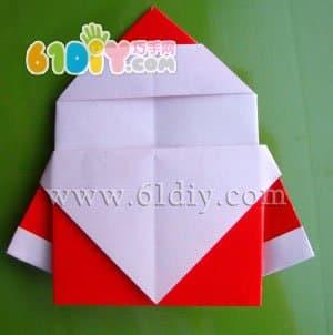 圣诞老人折纸图解