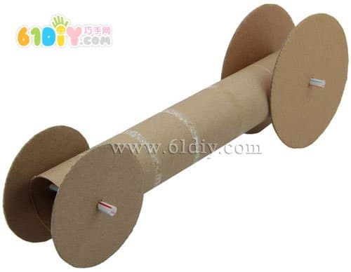 纸芯筒手工制作赛车