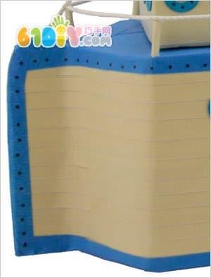 牛奶盒制作轮船模型_纸盒手工