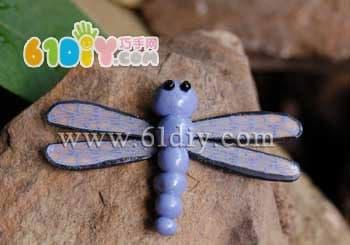 黏土制作教程:蜻蜓_昆虫彩泥