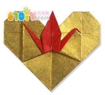 爱心千纸鹤折纸教程