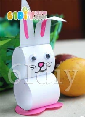 复活节的立体纸兔子手工